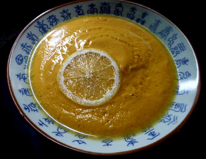 Crema di zucca con cineserie