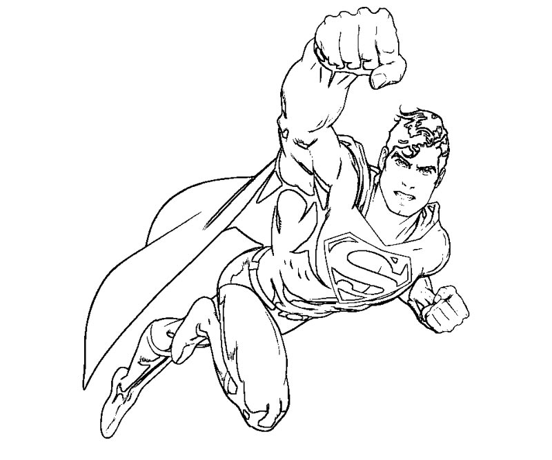 Printable Superman 6 Coloring Page title=