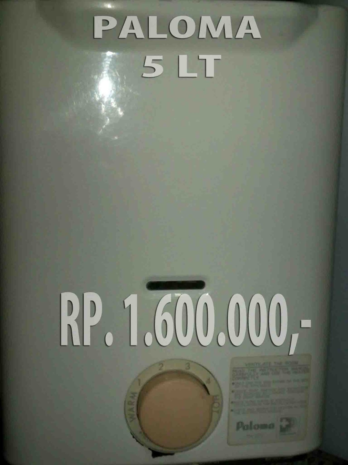 paloma gas water heater original jepang