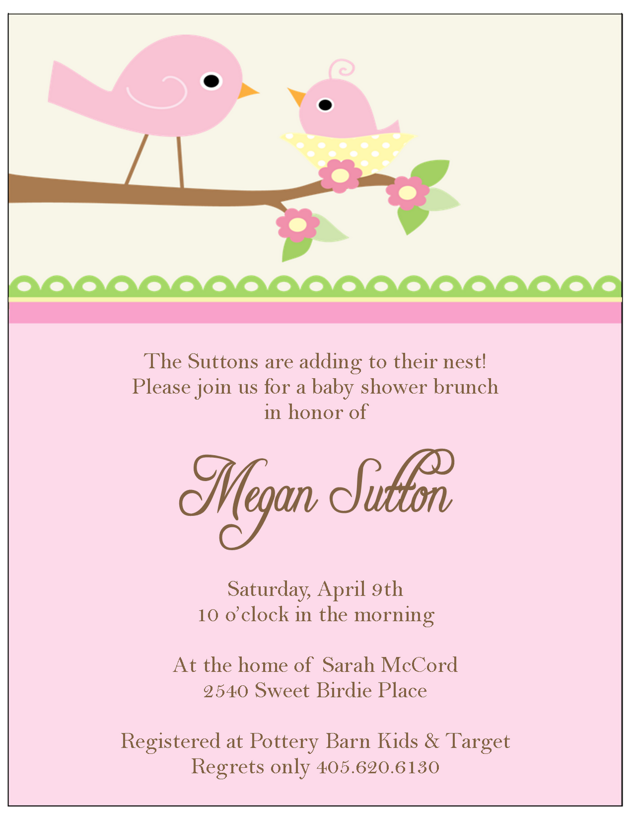 Baby shower girl invitation - Baby Shower Decoration Ideas