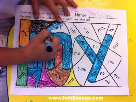 Songs  Sight sight Coloring hidden alert!) Heidi Worksheets! Hidden word Word  (Freebie free worksheets
