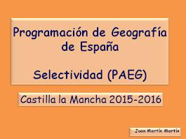 Programación de Geografía para Selectividad (PAEG).           2015-2016.