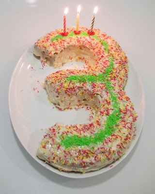 Tarta de tercer cumpleaños