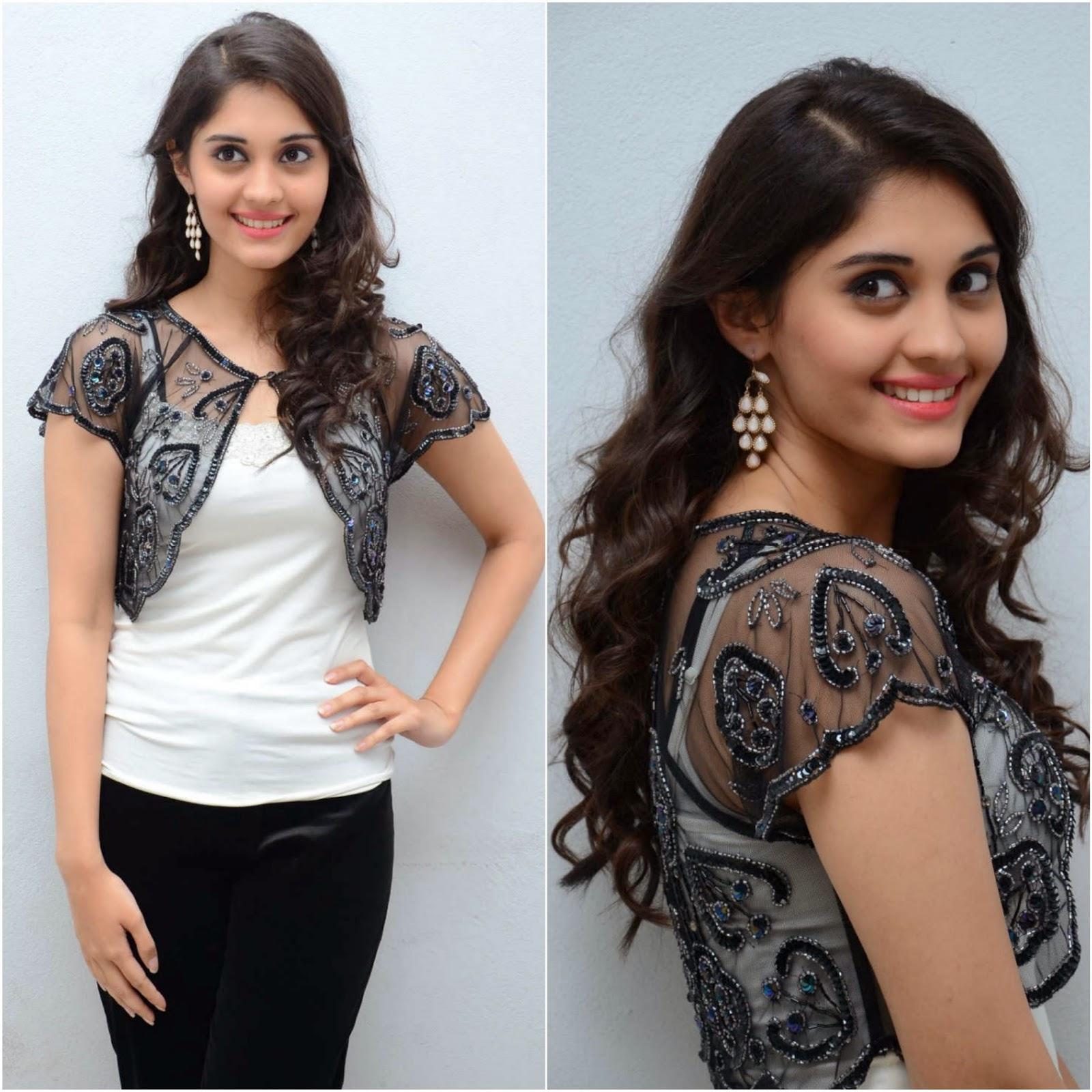 Actress Surabhi Latest Cute Hot Black Top Dress Beautiful Spicy Photos Gallery