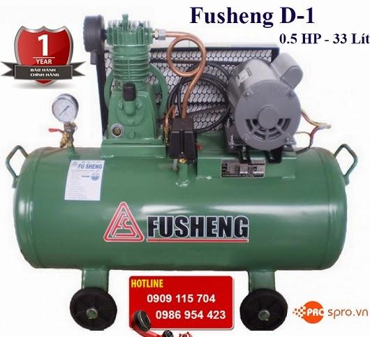 Máy nén khí – máy bơm hơi Mini 0.5 HP Fusheng D-1 dung tích 33L
