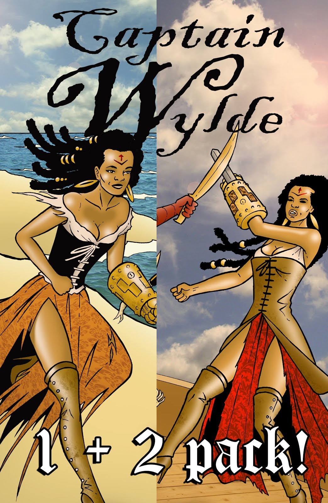 Buy the CAPTAIN WYLDE issues 1 + 2 value pack below!
