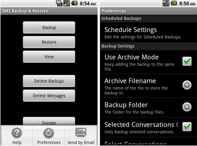 download android apps to backup sms