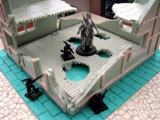 makieta ruiny miasta mordheim