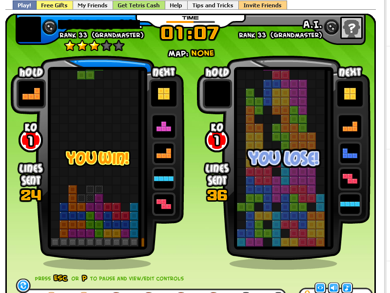 Tetris Battle Cheats, Hacks and Bots for Facebook (March 04 2012)