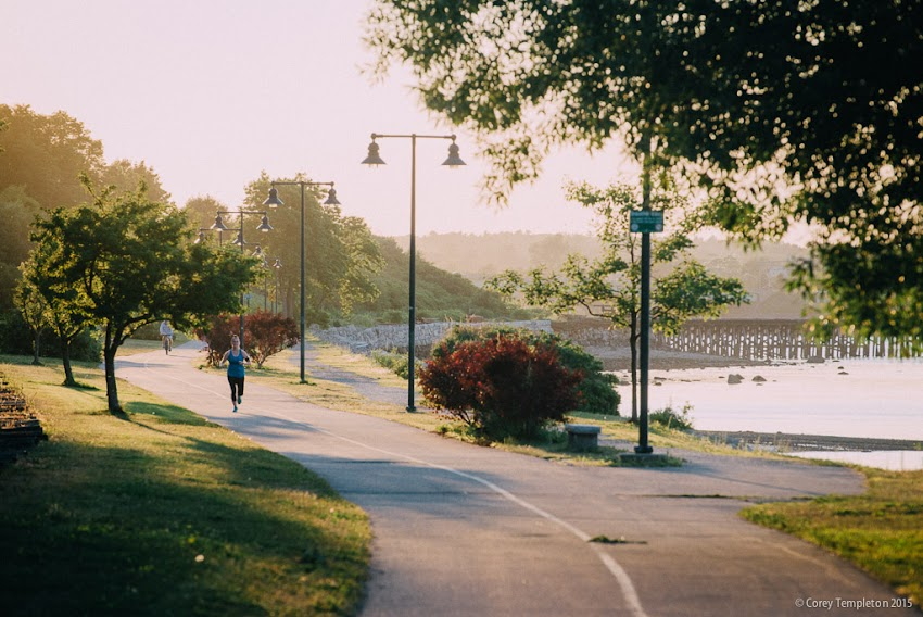 Portland, Maine USA Summer July 2015 Eastern Promenade Trail jogging running walking photo by Corey Templeton.