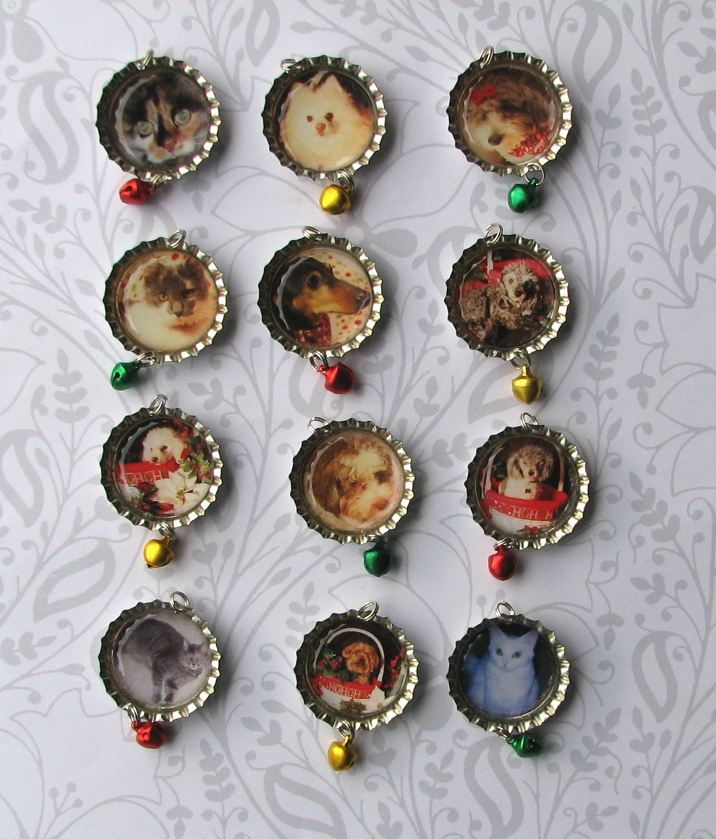 Designs By Chastity Custom Photo Bottle Cap Christmas