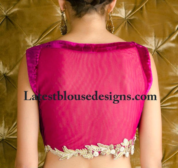 blouse with net