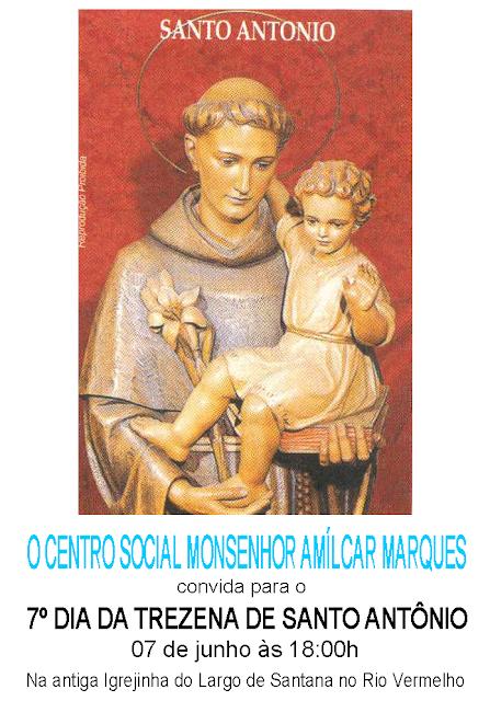 Trezena de Santo Antônio na Igrejinha de Sant`Anna