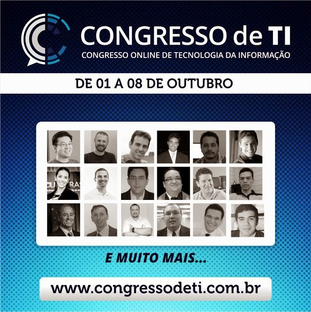 Mais de 25 Palestras no Congresso Online de TI