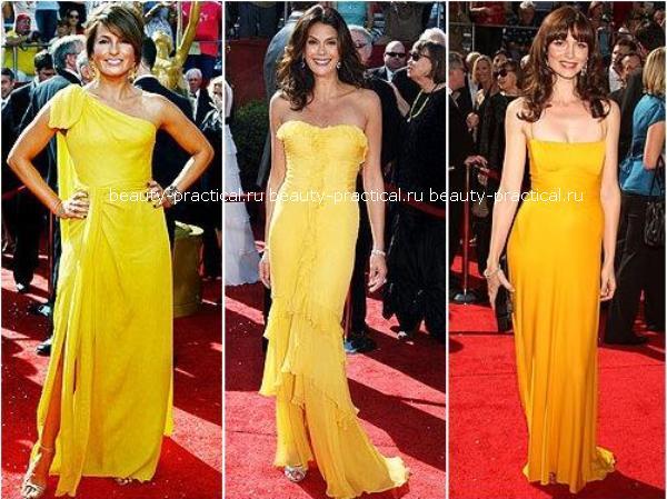 Желтое платье макияж прическа