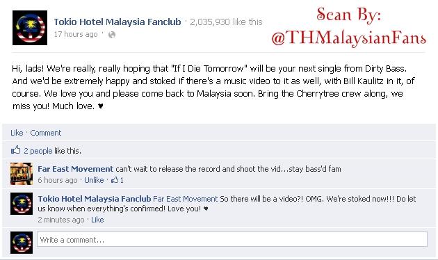 [rumeur démentie] vidéo clip de If i die tomorrow, avec ou sans Bill? THMF