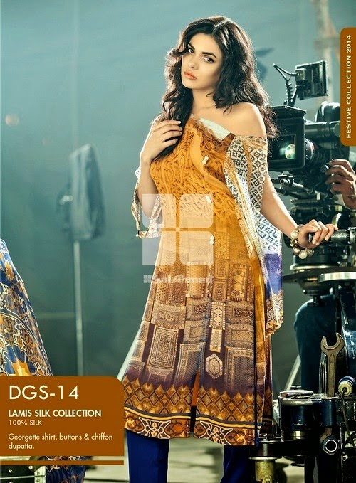 Gul Ahmed Lamis Digital Silk Dress