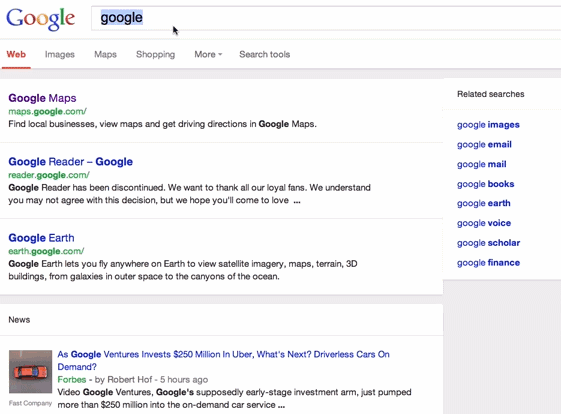Google Tests Tablet Search Interface