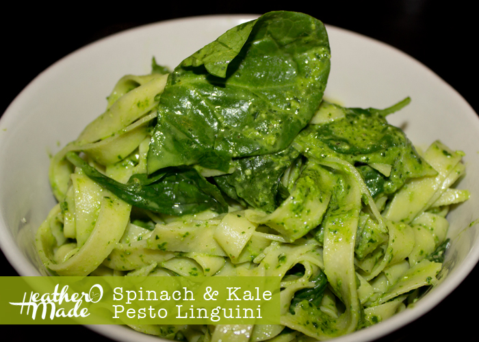Heather O Made: Spinach & Kale Pesto Linguini