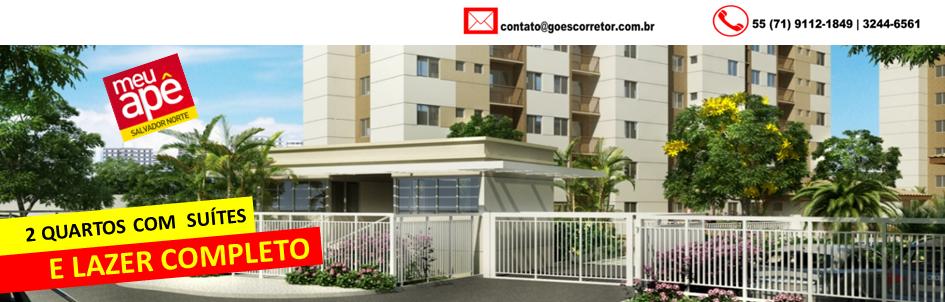 Meu Apê Salvador Norte - Apartamento de 2 quartos com suíte.
