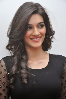 Actress Kriti Sanon Picture Gallery in Black Dress at 1 Nenokkadine Movie Audio Launch Function 0002.jpg