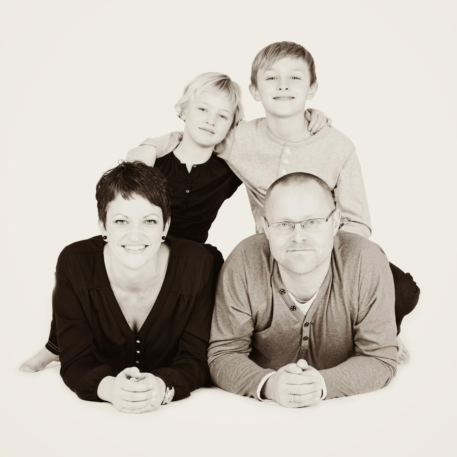 Her er eg, og den fine familien min!