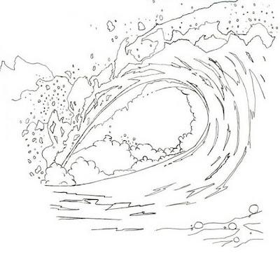 Agua para colorear  Dibujo