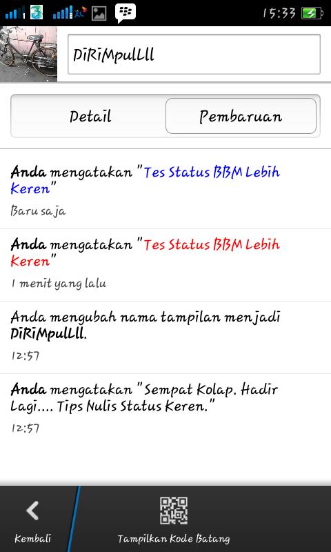 Status BBM Lebih Keren>  <div class=