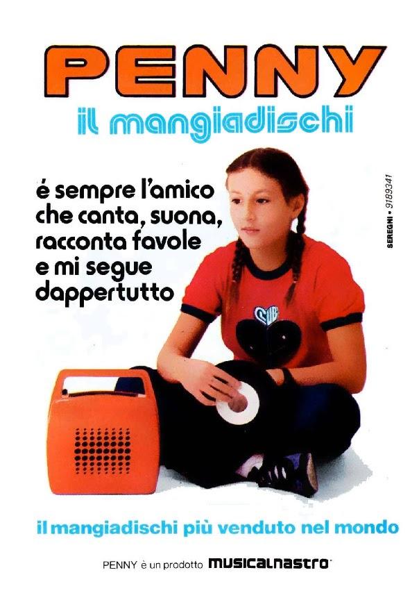 Penny Mangiadischi pubblicità topolino 1981