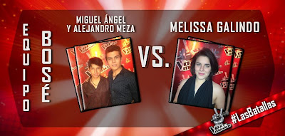 Miguel Angel y Alejandro Meza vs Melissa Galindo La Voz