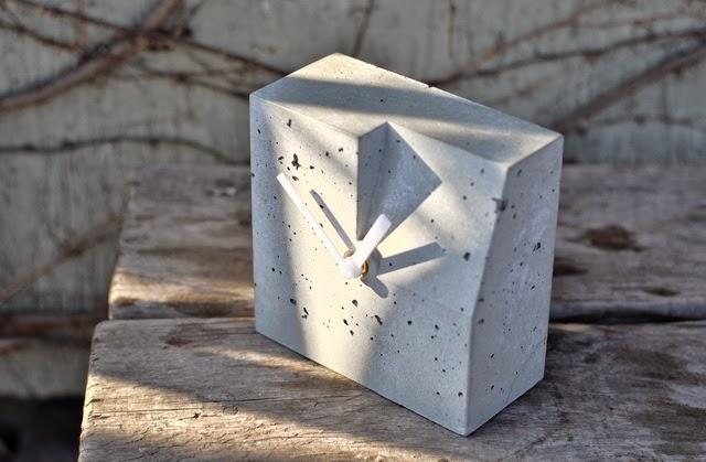 Zegar betonowy Niczego Sobie