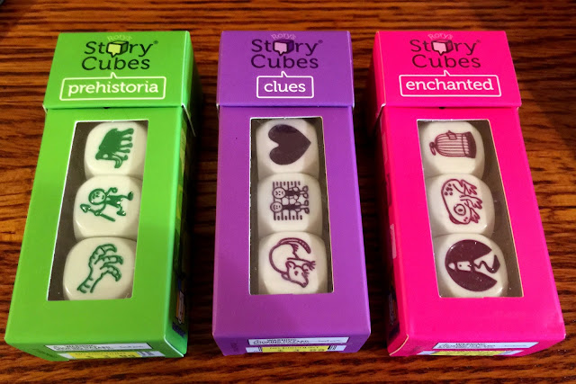 Battle Gaming One; Story Cubes; D&D and Story Dice