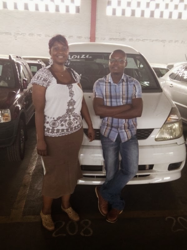 With Priscilla Chinhengo after She Bought A Nissan Serina