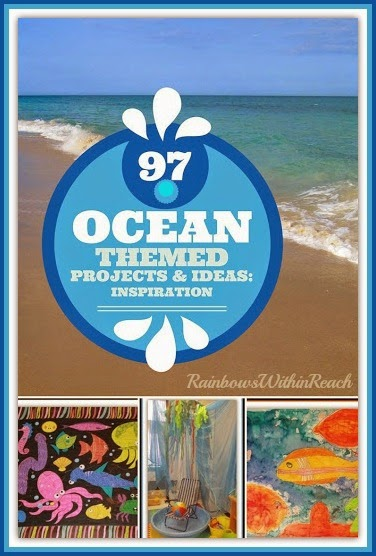 Ocean Themed Projects, Ideas and Inspiration RoundUP at RainbowsWithinReach