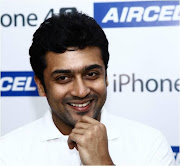 Surya launches iPhone 4S at Aircel store in Chennai!