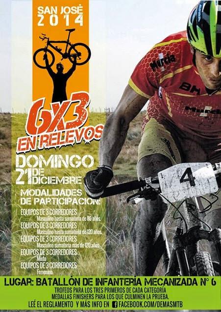 MTB - 6x3 en relevos (San José, 21/dic/2014)