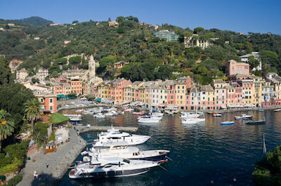 Panorama de Portofino, Italia. Beautiful Italy Cities