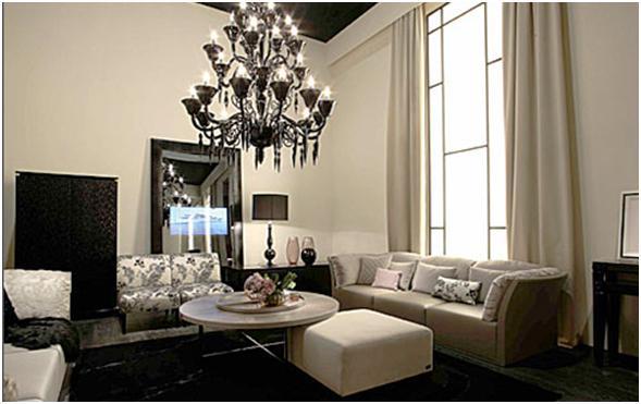 Salas modernas de lujo dise o y decoraci n interiores for Interiores de casas lujosas