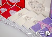 красочные свадебные коробочки
