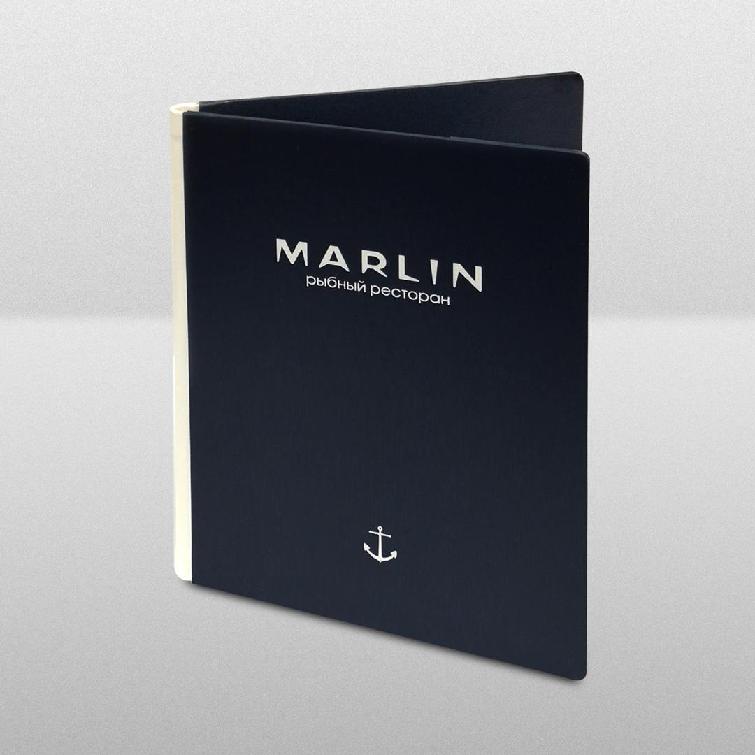 """""""Marlin"""". Меню для ресторана морепродуктов"""