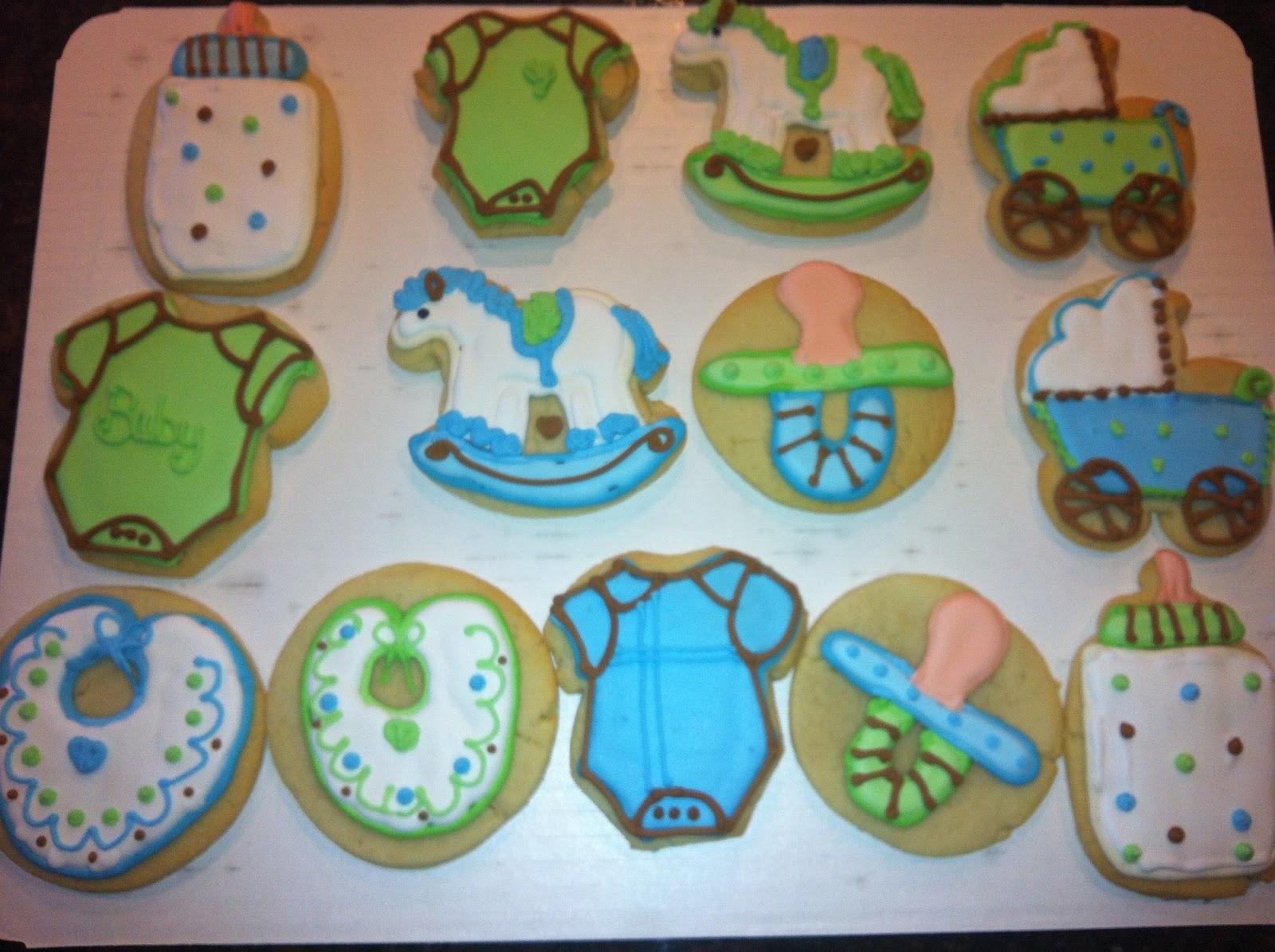 it 39 s sweet boy baby shower cookies