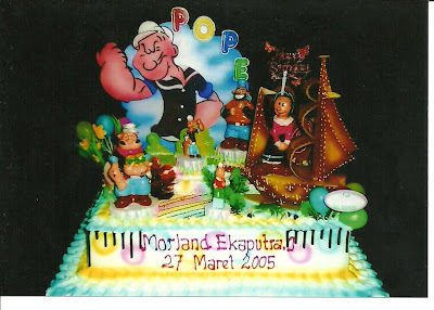 Kue Ulang Tahun Popeye