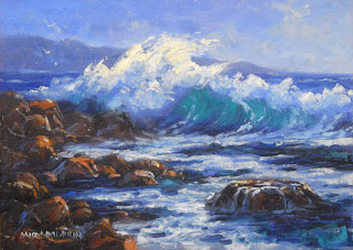 seascape workshop in oil