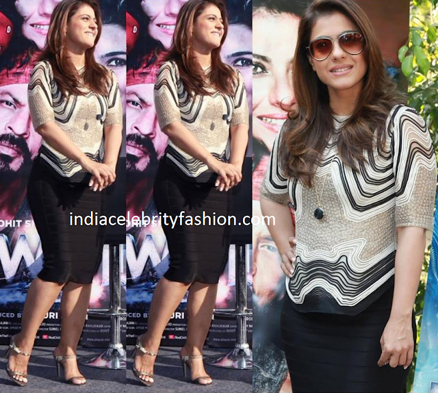 Kajol in Rohit Gandhi and Rahul Khanna
