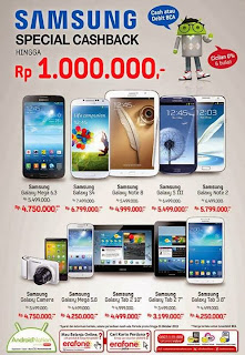 Samsung Galaxy Special CashBack Hingga Rp 1 Juta