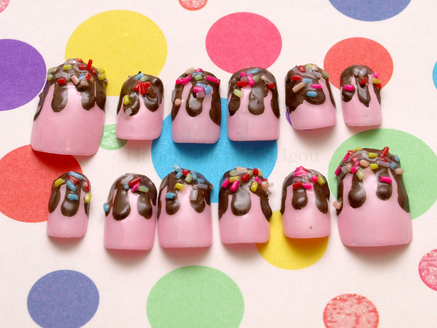 These kawaii nails are perfect for summer! :D and they show the nail ...