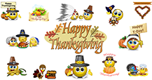 Thanksgiving emoticons