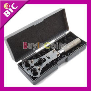 Watch Back Case Opener Wrench Screw Remover Tool Set