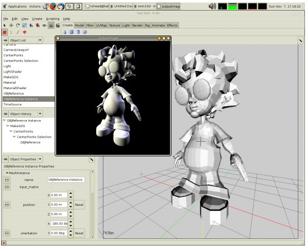 Cartoon animation software 3d model editor