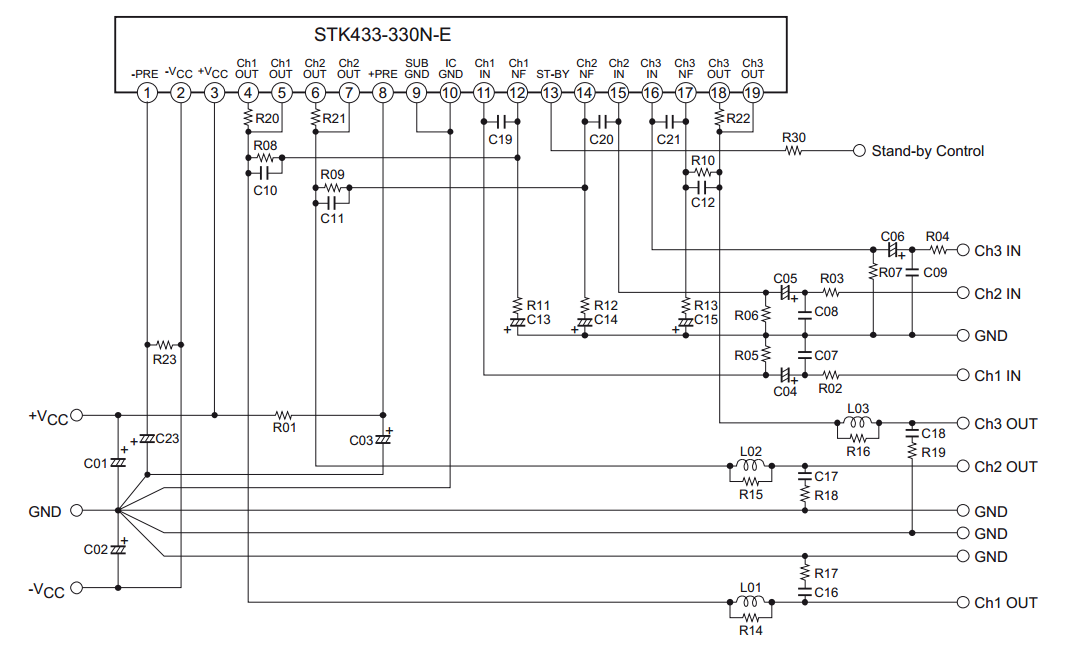 8268 ta audio power amplifier schematic diagram